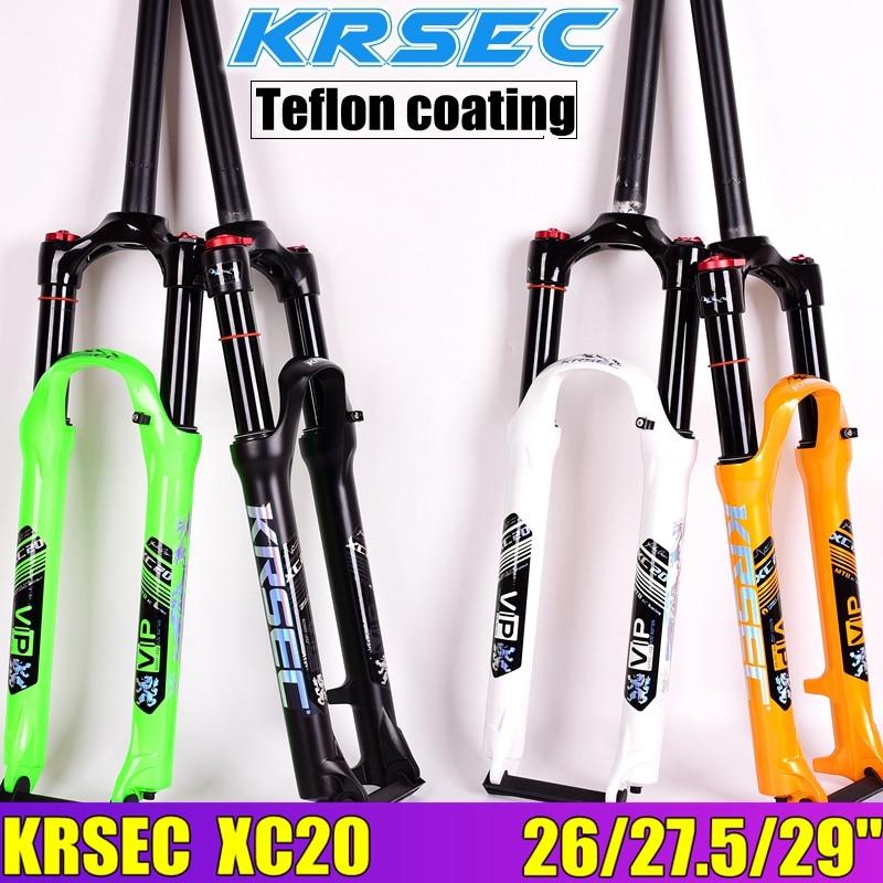 KRSEC MTB Bicycle Oil and Gas Fork 29 27 5 26er Manual control local premium black