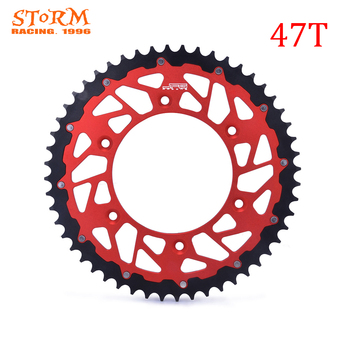45 47 48 49 50 51 52 T Teeth Motorcycle Steel Aluminum Composite Rear Sprocket For HONDA CRF XR CRM XL 230 250 125 450 500 image