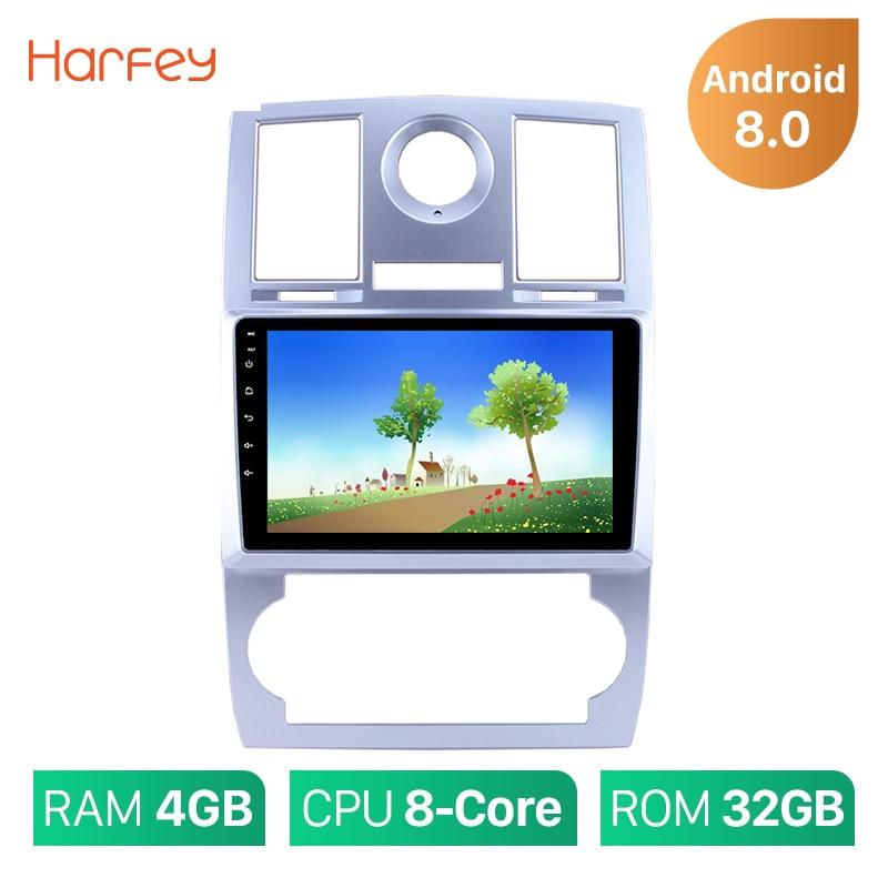 Harfey 1Din Android 8.0/8.1 9 Multimédia Lecteur De Voiture Radio Pour 2004 2005 2006 2007 2008 Chrysler Aspen 300C Wifi Tête Unité