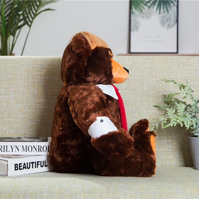 "24/"" BEAR DONALD TRUMP BEAR PLUSH TOYS USA PRESIDENT DOLL valentine day GIFT+FLAG"