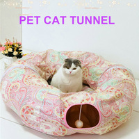 Pet Cat Play Toy Tunnel Funny Foldable Pet Tub Tunnel Soft Cat Kitten Beds House Hot Sale