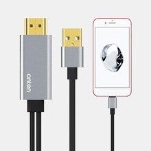 USB to HDMI Converter สำหรับ Lightning to HDMI กระจก Cable Adaptador สำหรับ Apple iPhone X 8 7 6 S iPad HDMI TV อะแดปเตอร์ AV ดิจิตอล
