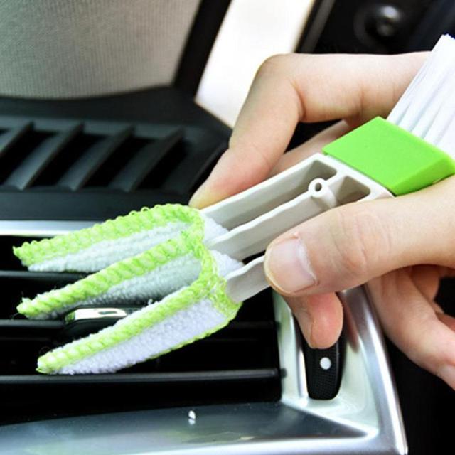 Щетка для чистки автомобиля двухсторонняя Автомобильная воздушная вентиляционная щетка кисточка для чистки зазоров щетка для пыли слепая клавиатура чистящие щетки окно приспособление для чистки жалюзи