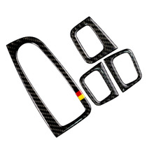 Für Mercedes Benz C Klasse W205 C180 C200 C300 GLC260 4 stücke Carbon Faser Auto Fenster Schalter Armlehne Panel Abdeckung