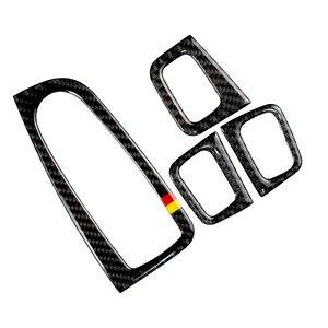 Image 1 - Für Mercedes Benz C Klasse W205 C180 C200 C300 GLC260 4 stücke Carbon Faser Auto Fenster Schalter Armlehne Panel Abdeckung