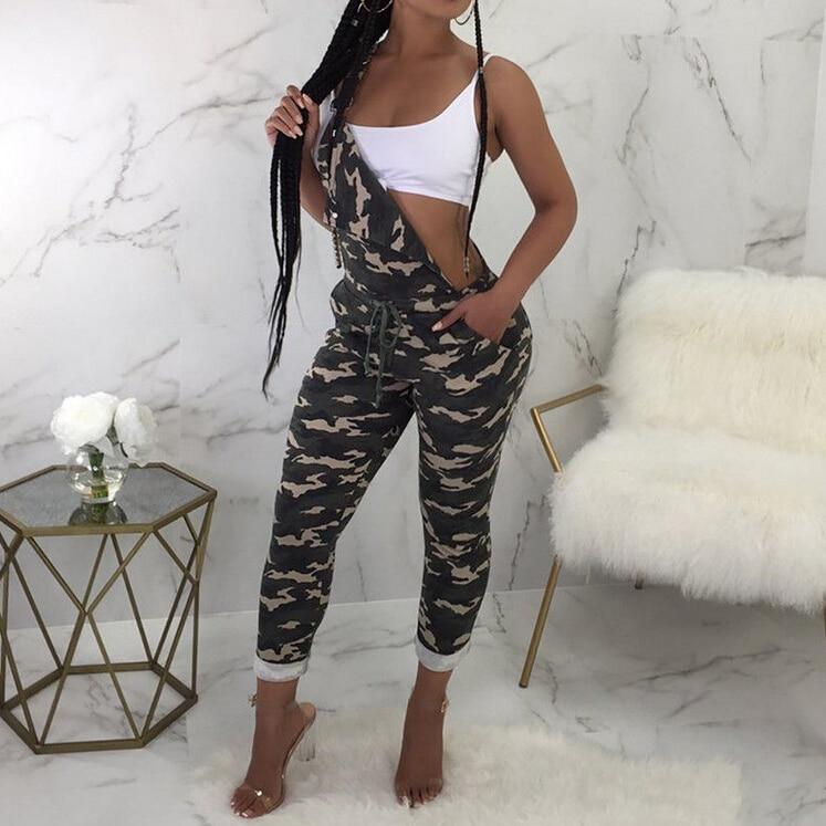 Hot Women Camouflage Jumpsuit 2019 New Summer Sleeveless -2278