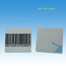 HOUZE,1000 ชิ้น/ล็อต,EAS นุ่มป้ายกำกับ 4x4 ซม.Barcode,RF Anti Theft สติกเกอร์, ความปลอดภัย Barcode labels สำหรับร้านค้าปลีก