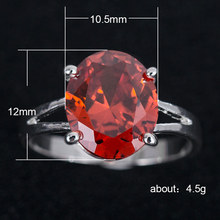 Silver 925 Ring Diamond Rings Treasure pomelo Emerald Amethyst Rose Gold Ruby Four-prong diamond-studded womens  B1308