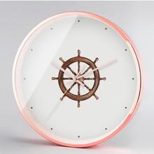 New 3D Wall Clock Quartz Circular Digital Mediterranean Personality Modern Design For Home Decoration
