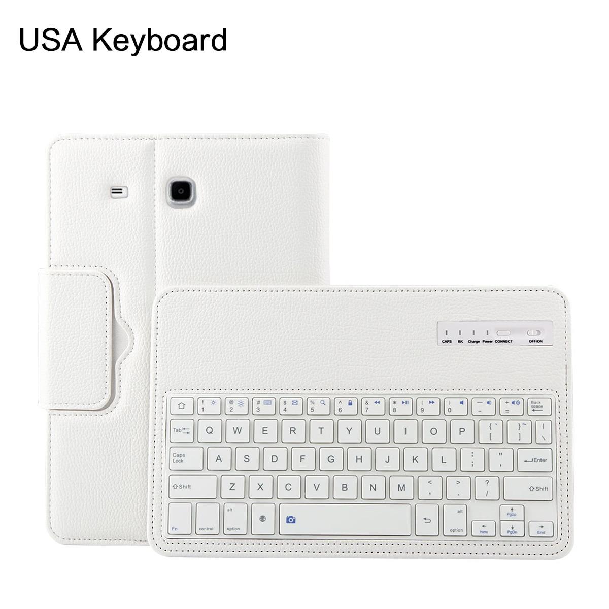 For Samsung Galaxy Tab E 9.6 T560 Tablet BT wireless Removable Keyboard Case For Samsung Galaxy T560 Folding Bracket Case