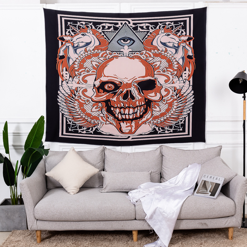 Loartee Abstract Gothic One Eye Pirate Skull Tapestry Unicorn Hippie Totem Wall Hanging DecorationLoartee Abstract Gothic One Eye Pirate Skull Tapestry Unicorn Hippie Totem Wall Hanging Decoration