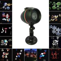Christmas Laser Snowflake Projector Outdoor Waterproof LED 12 Pattern Disco Lights Home Garden Star Decoration Lamp 11.11.sales