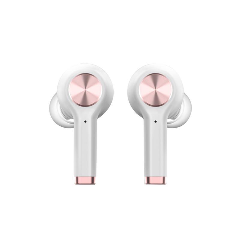 Casque sans fil Bluetooth avec fonction de traduction casque stéréo anti-transpiration dans l'oreille noir blanc écouteur avec micro