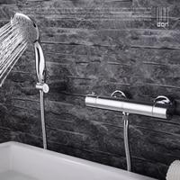 Ванная комната термостатический клапан для ванной кран с ручной, Латунь горячей и холодной кран, каскадные Смесители для ванной комнаты Наб