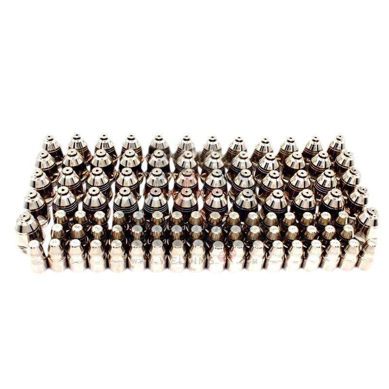 P80 Inverte Plasma Cutter Schneiden Plasma Verbrauchs Schneiden Taschenlampe Zubehör Düse Tipps Elektrode Cnc 100Pk
