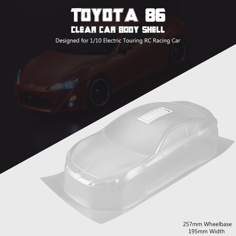 Rc Car Body Shell Frame Kit For Toyota 86 1 10 Electric Touring Rc