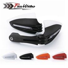 Universal 7/8 22mm Motorcycle Accessories Hand Guards with LED Turn Signal Light Carbon Protectors For Yamaha KTM Honda