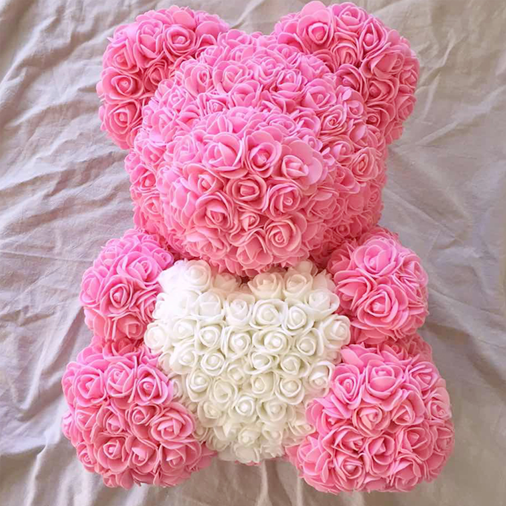 2019 Valentines Gift 5pcs Pe Forever Love Rose Bear For Wedding