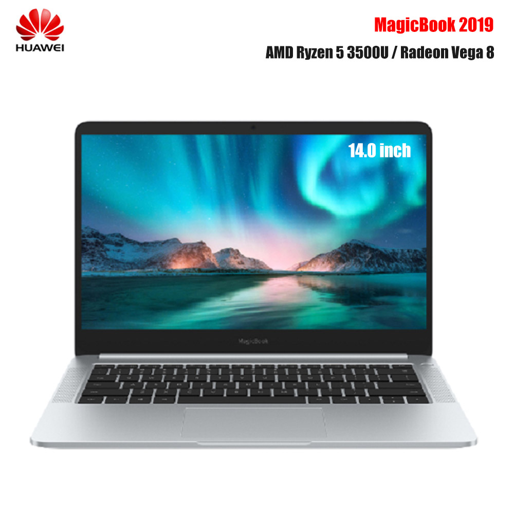 Original Huawei Honor MagicBook Laptop 14 Inch Windows 10 AMD Ryzen 5 3500U 8GB 256GB NVMe SSD Radeon Vega 8 Notebook PC