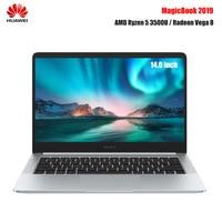 Original Huawei Honor MagicBook Laptop 14 inch Windows 10 AMD Ryzen 5 3500U 8GB 256GB NVMe SSD Radeon Vega 8 Notebook PC