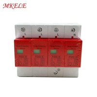 Surge Protector Protective Low voltage 420VAC SPD 40 80KA 4P Surge Arrester House Arrester Device Lightning Protection
