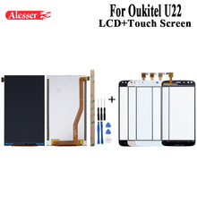 Alesser For Oukitel U22 LCD Display and Touch Screen Assembly Repair Parts With Tools And Adhesive For Oukitel U22 Mobile Phone