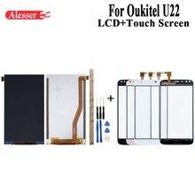 Alesser עבור Oukitel U22 LCD תצוגת מסך מגע עצרת תיקון חלקי עם כלים ודבקים עבור Oukitel U22 נייד טלפון