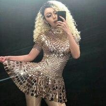 Sparkly Sequins ชุดผู้หญิงเซ็กซี่เต้นรำชุดฉลองปาร์ตี้ชุดวันเกิดเงินชุดไนท์คลับเซ็กซี่กิจกรรม Leotard ชุด