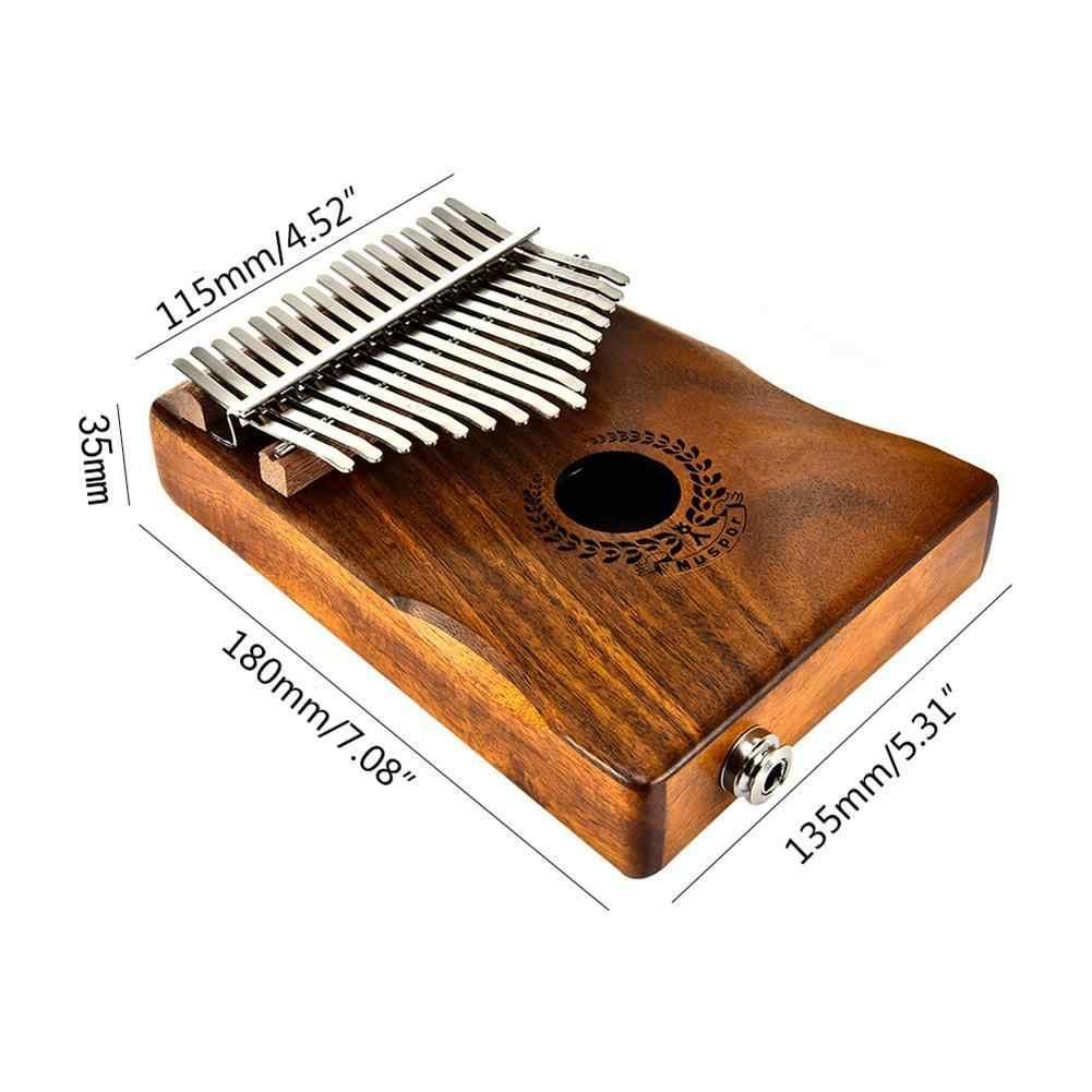 17 ключей EQ калимба Акация Thumb пианино ссылка динамик Электрический пикап с сумка кабель твердой древесины калимба музыкальный инст