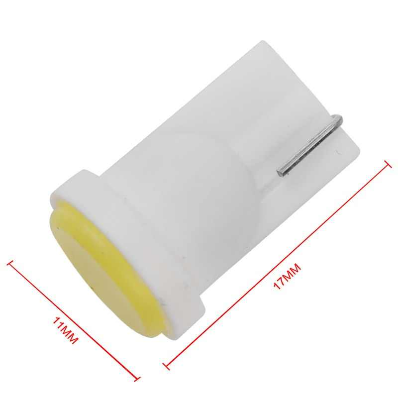 1pc Ceramic Car Interior LED T10 COB W5W Wedge Door Instrument Side Bulb Lamp Car White Source 12V white red yellow blue for car
