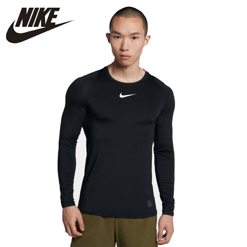 best quality thoughts on latest US $58.31 51% OFF|Nike Pro Official Man Long Sleeve Training Shirt Outdoor  Running T shirt Comfortable Breathable Clothes #838082 010-in Trainning &  ...