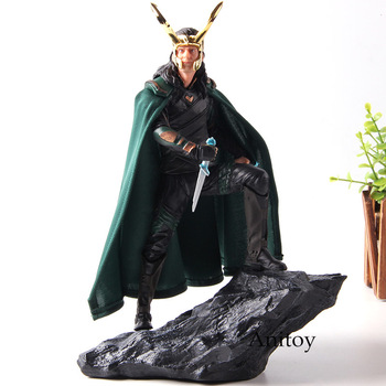 Iron Studios Battle Diorama Thor Ragnarok Loki Marvel PVC Action Figure Collection Model Toys predator concrete jungle figure