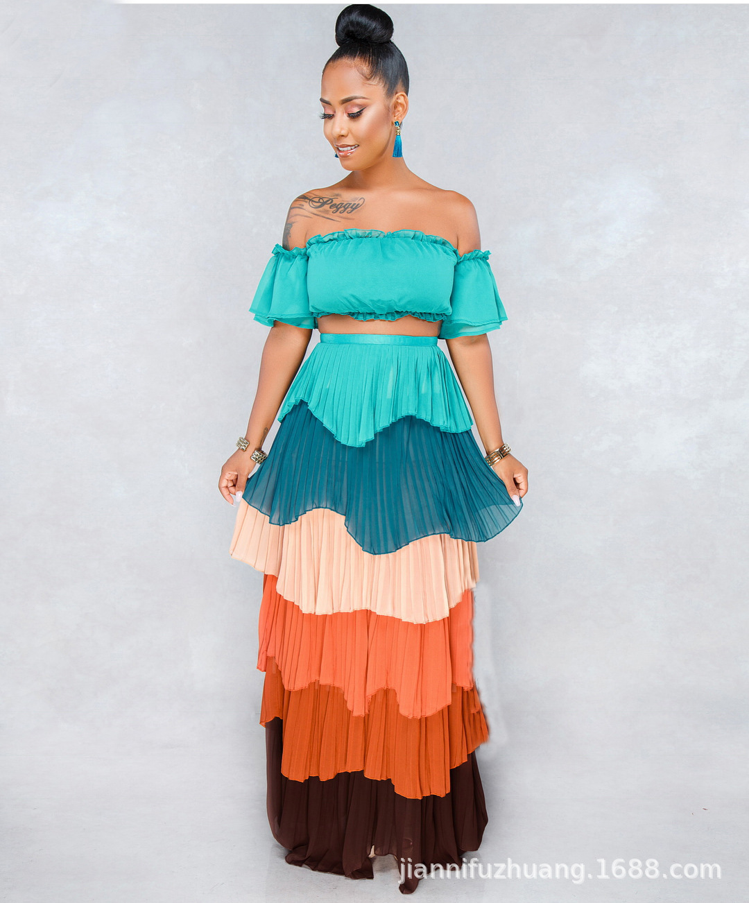 African Sets Real Hot Sale Polyester Robe Africaine 2019 Elegent Fashion Style African Women Sexy Sets