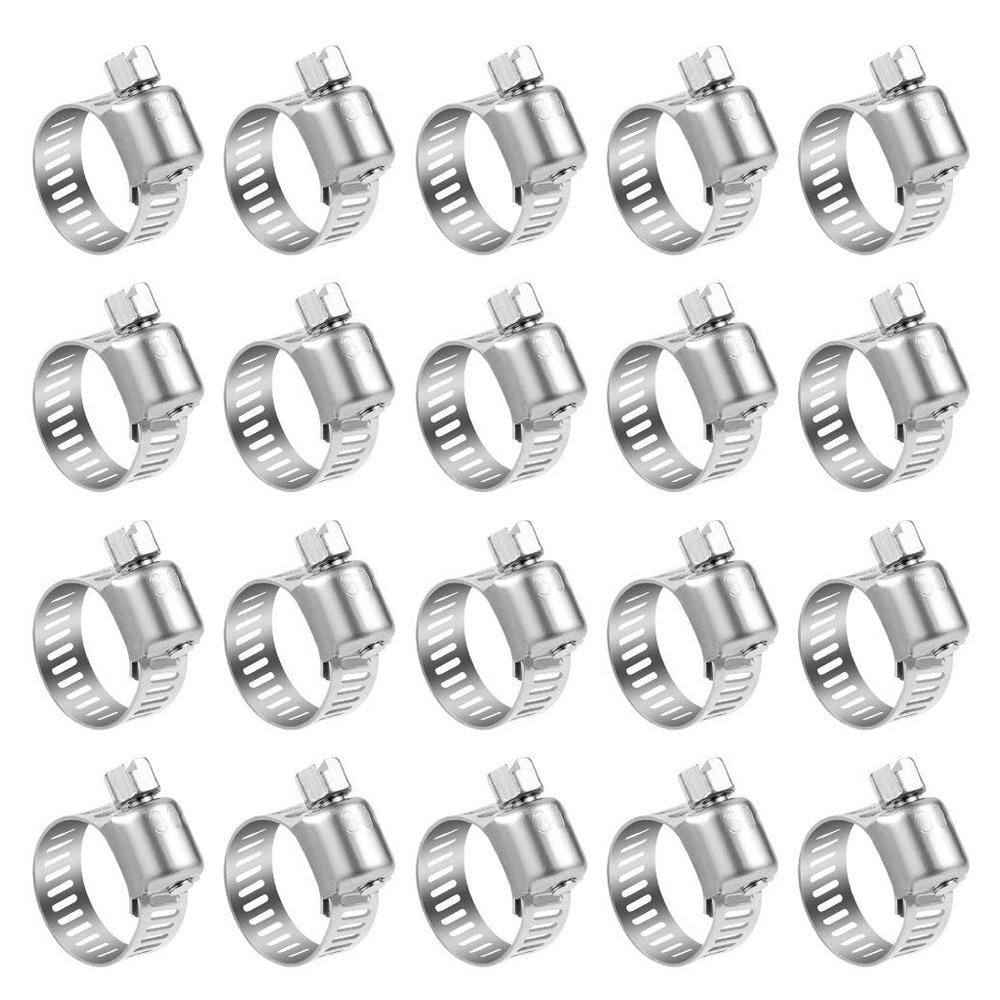 Gutherzig 20 Pack Edelstahl Stick Schlauch Clamp Einstellbare Palette Kraftstoff Linie Rohr Wurm Getriebe Schlauch Clamp Wasser Rohr Klemme Für Sanitär Heimwerker