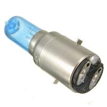 12 V 35 w BA20D налобный фонарь белого света хром синий фары для мотоцикла, велосипеда лампы