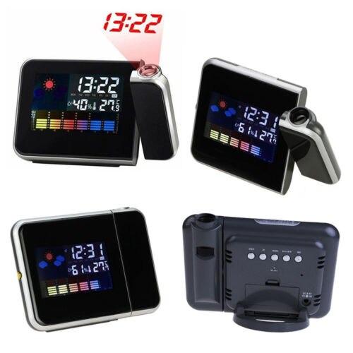 USB LCD Projektion Wecker Snooze Thermometer Digitale Led-hintergrundbeleuchtung Projekte Zubehör