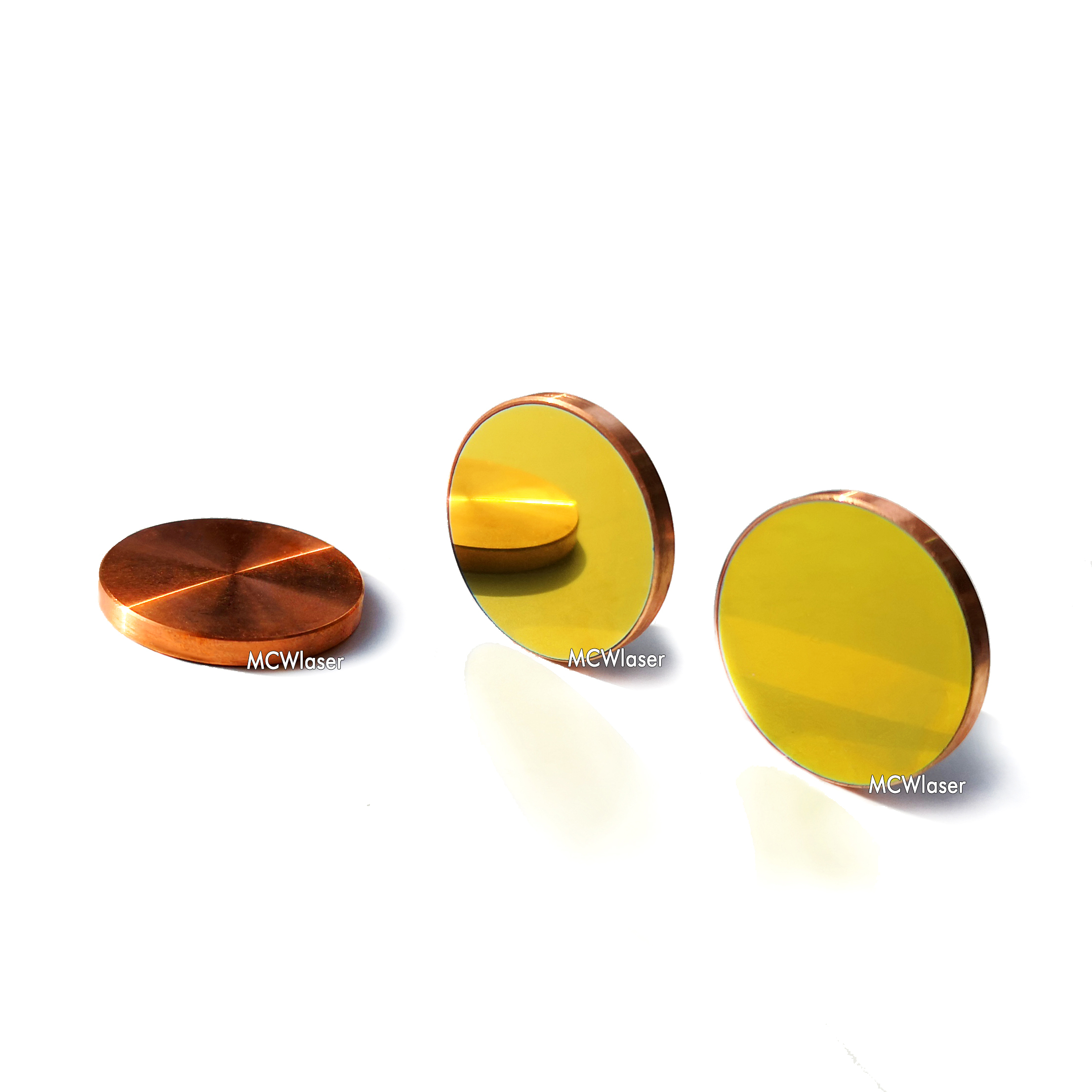 Gold Coated Φ30mm Si Laser Mirror Reflector for 10600nm 10.6um CO2 Engraver