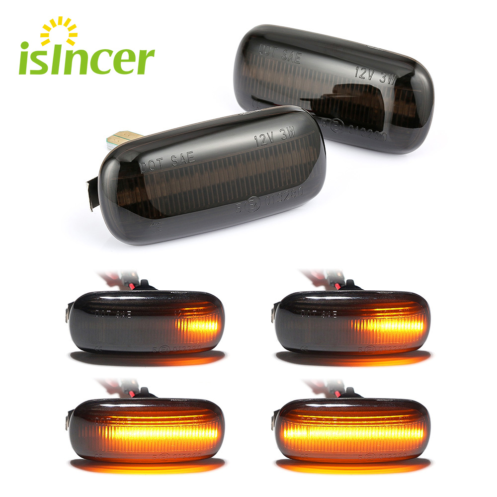 2 pieces Led Dynamic Side Marker Turn Signal Light Sequential Blinker Light For <font><b>Audi</b></font> A3 S3 8P A4 S4 RS4 B6 B7 B8 <font><b>A6</b></font> S6 RS6 C5 C7 image