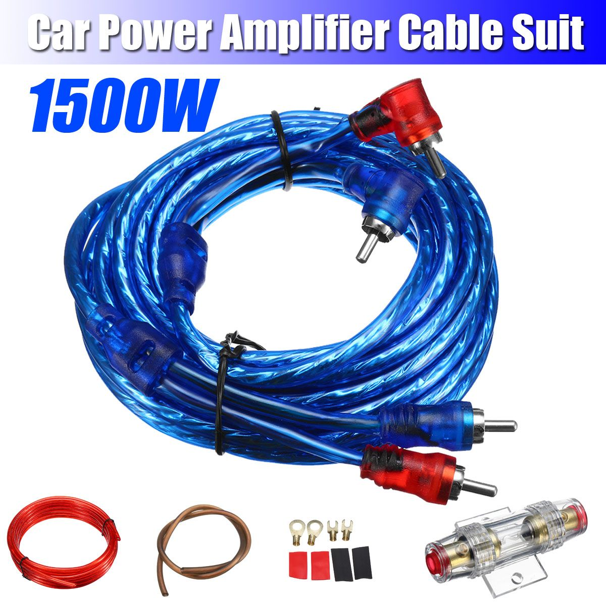 Subwoofer Amplifier 1500w 6ga Car Audio Amp Wiring Fuse Manual Guide
