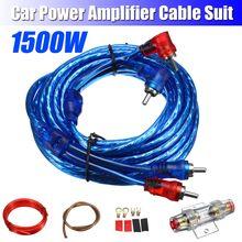 Kits de cableado de altavoces de Audio para coche de 1500 W, Kit de cables de Instalación de altavoces Subwoofer, Cable de alimentación 8GA, portafusibles de 60 AMP