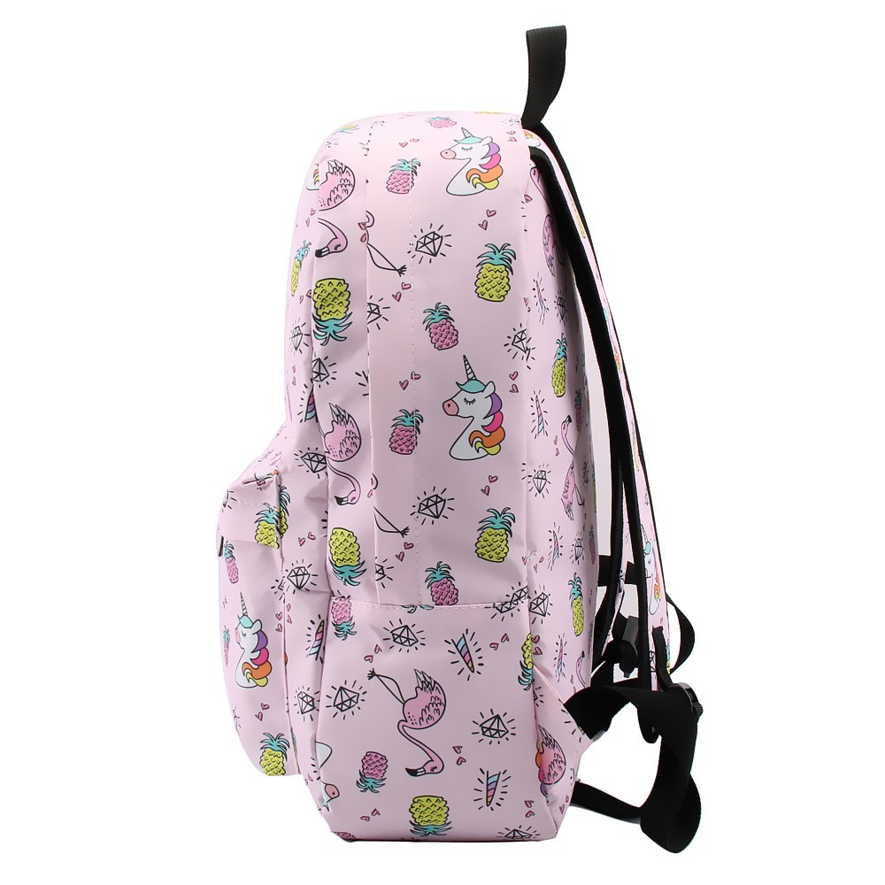 Backpack for Girls Unicorn Flamingo Water Resistant Backpacks Teenage School Bag