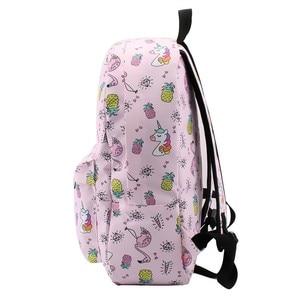 Image 3 - Deanfun mochila para meninas unicórnio à prova de água flamingo diamante padrão mochilas saco escolar adolescente 80043