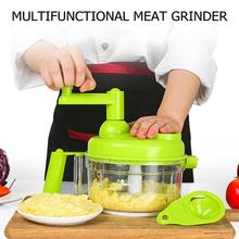 Manual Vegetable Fruit Twist Shredder Food Chopper Cutter Meat Grinder High quality Garlic Cutter Drop Shipping