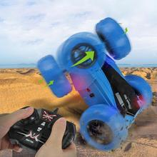 2.4G Music Light Off-Road Vehicle 360 Degrees Rotate Remote Control Stunt Crawler Car Kids
