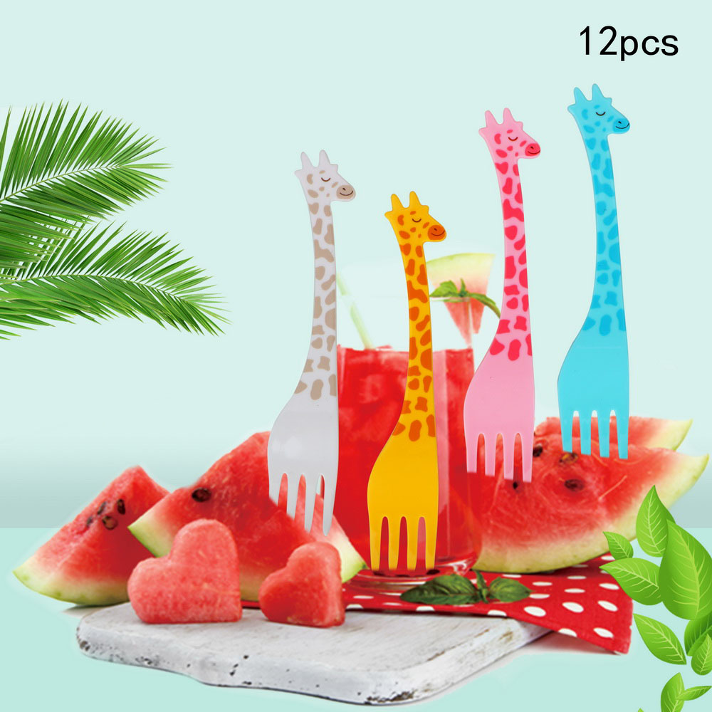 Giraffe Fruit Fork Food Dessert Cocktail Forks Cake Party Accessories Tableware