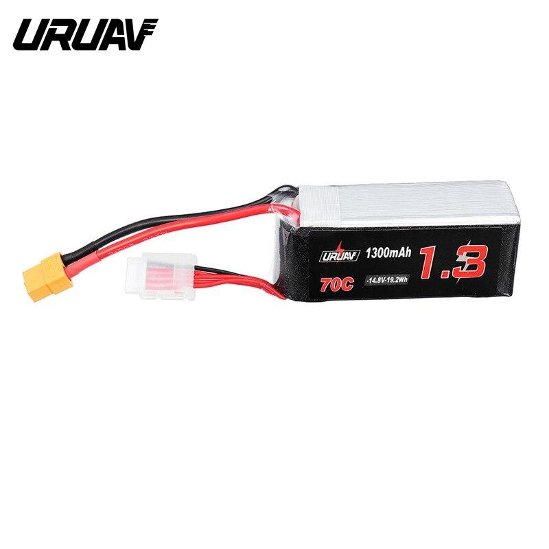 Haute Qualité URUAV 14.8 v 1300 mah 70C 4S Rechargeable Lipo Batterie Avec XT60 Plug pour Eachine Tyro99 FPV Racer drone