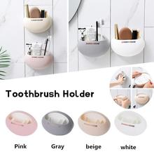 купить Bathroom Accessories Set Toothbrush Holder With Wall Suction Cups Shower Holder Cute Sucker Toothbrush Holder Suction Hooks дешево