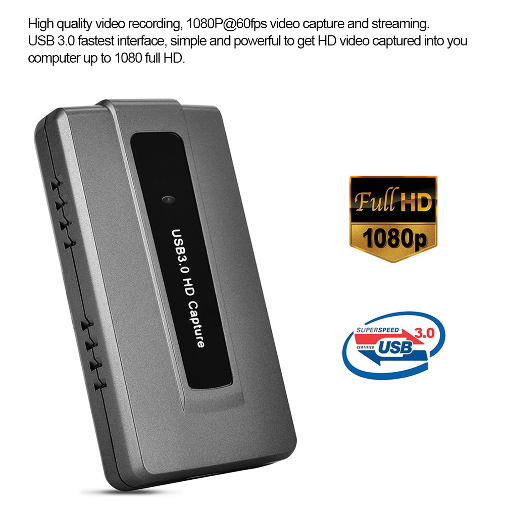 Image 5 - Ezcap USB 3.0 HD Game Capture Card Device Live Streaming Record EasyCap 1080p 60fps Plug and Play for XBOX One PS4 WII U-in Video & TV Tuner Cards from Computer & Office