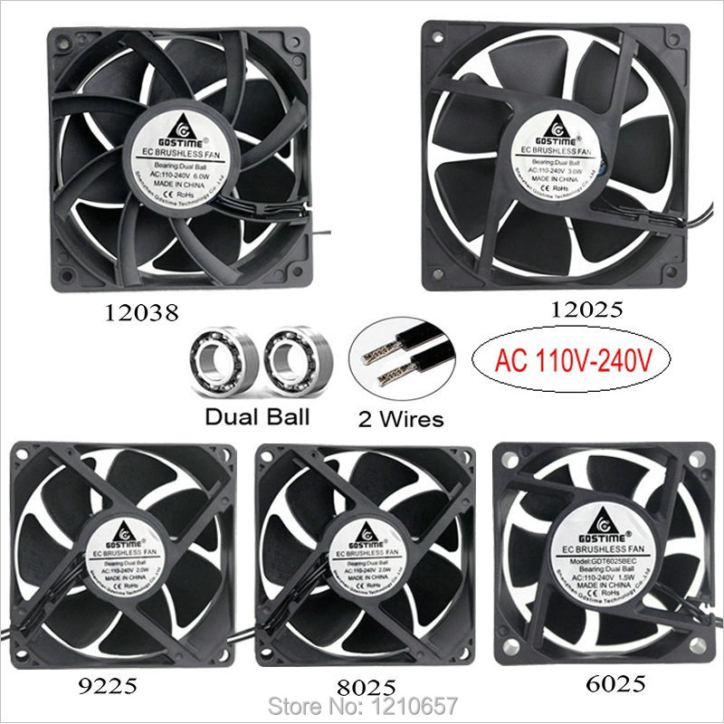 5pcs 12V 120mm x 120mm x 25mm High speed 1800rpm Computer Case Cooling Fan 2pin