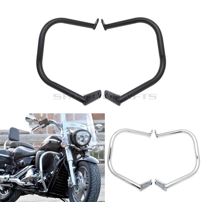 Motorcycle Front Engine Guard Crash Bar Protectors Safety Bumper Bracket Kit For Yamaha Dragstar DS1300 Vstar